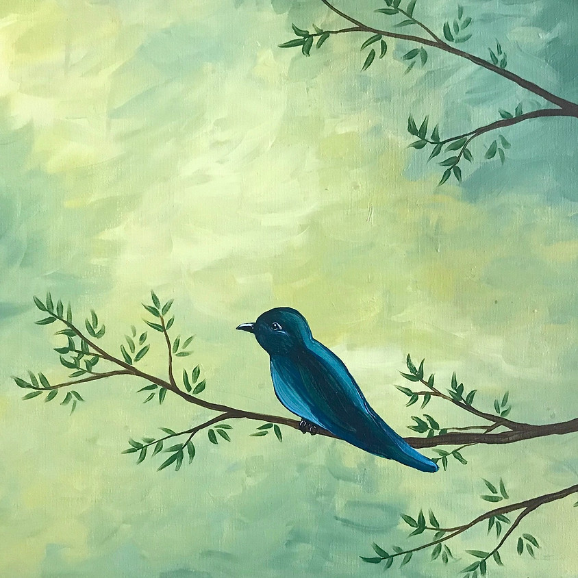 Spring Bird - Acrylic Painting