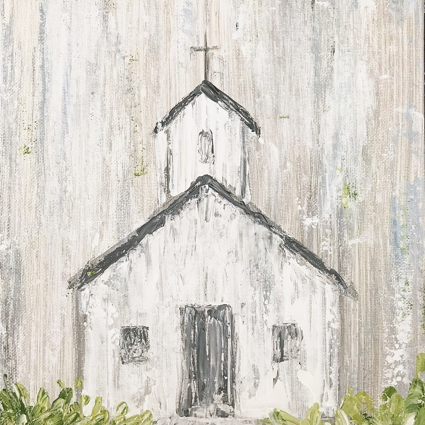 Little Country Church - Public painting class