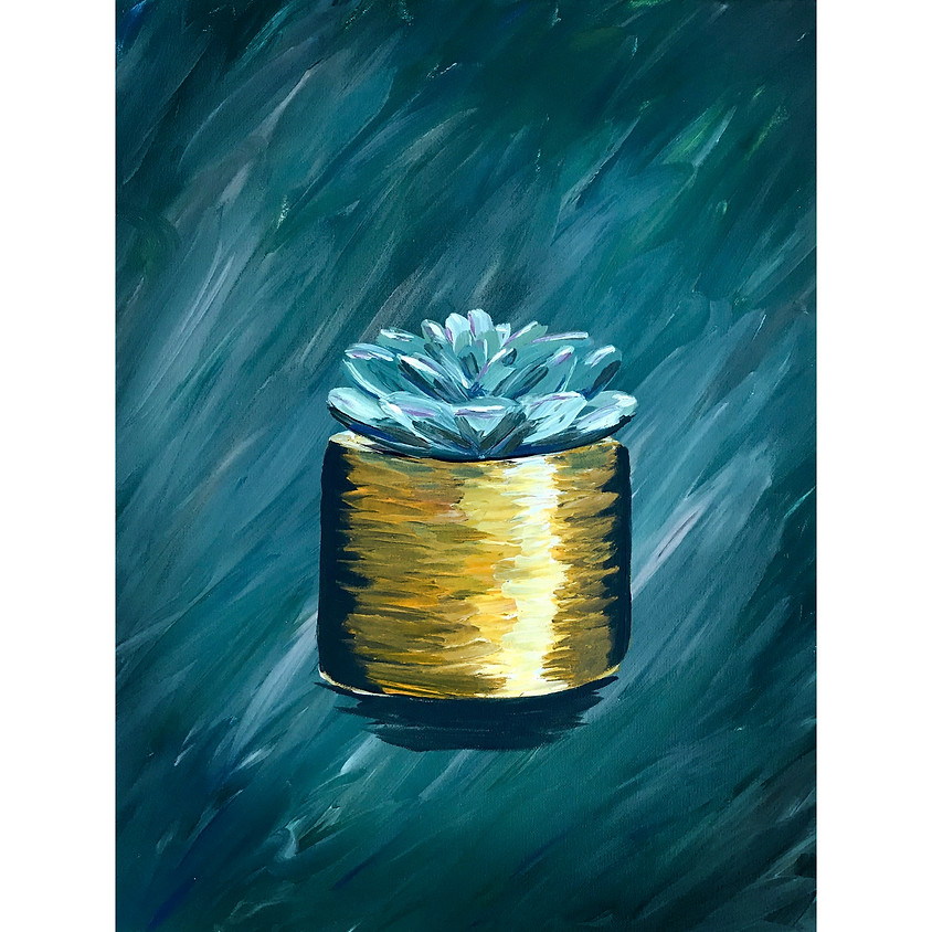 """""""Potted Succulent"""" Painting"""