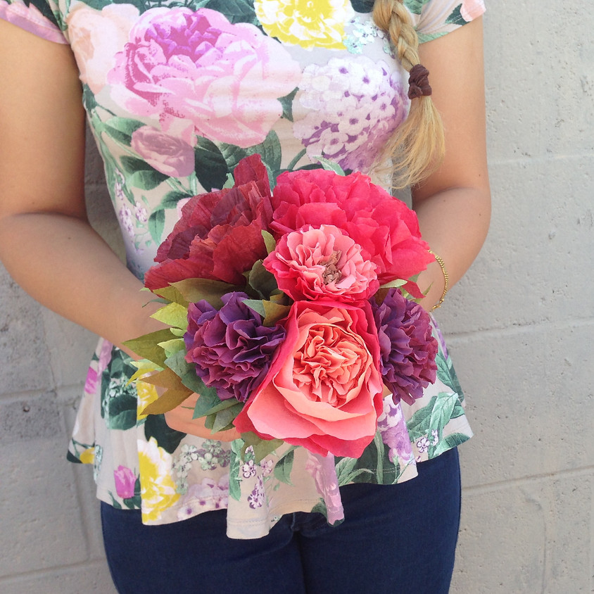 Pretty Paper Flowers Workshop - All ages