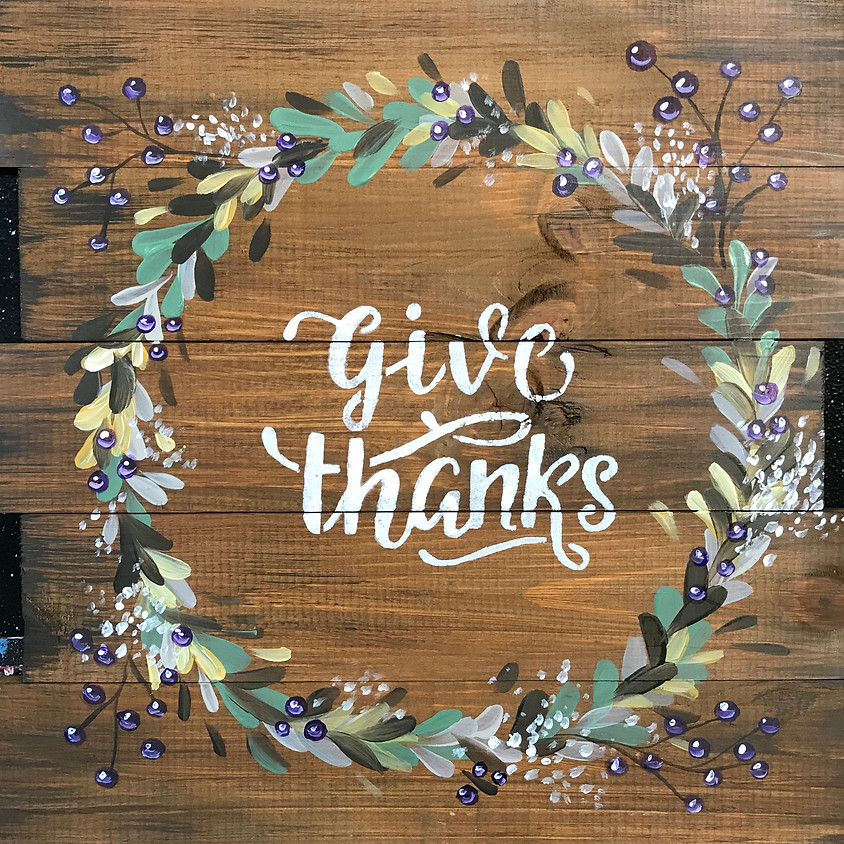 """""""Give Thanks"""" - Wood Pallet - Customize your phrase"""