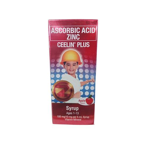 Ceelin Plus Syrup Apple Flavor 60ml