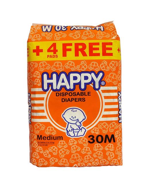 Happy Disposable Diaper Medium 30s