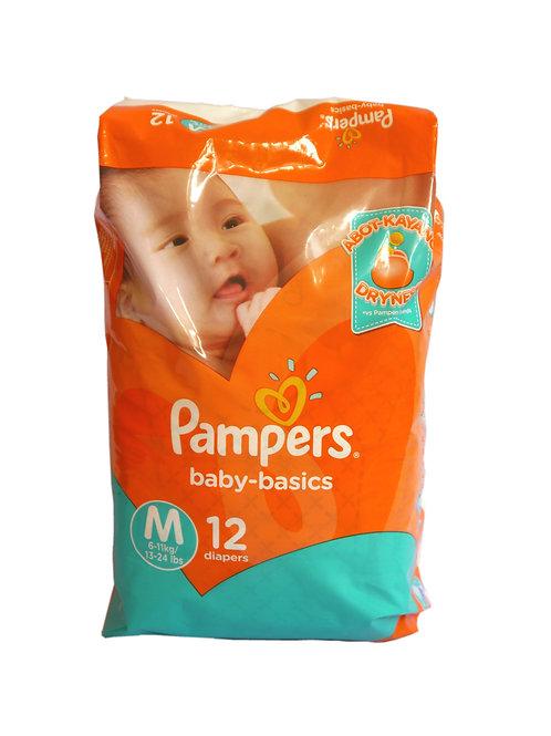 Pampers Baby Basics Medium 12s
