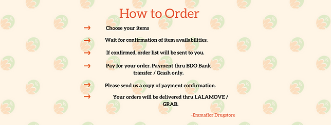 How to order at Emmaflor Grocey and Drugstore
