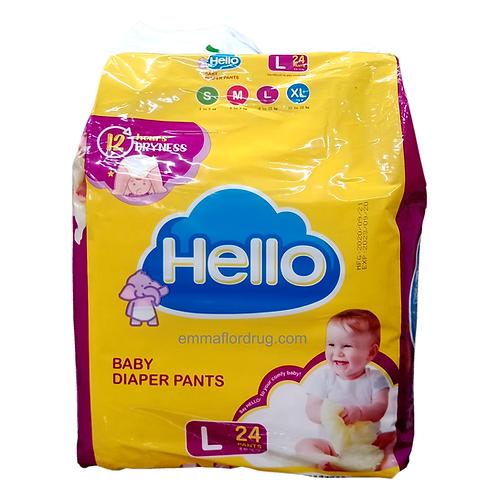 Hello Baby Diaper Pants Large 24's