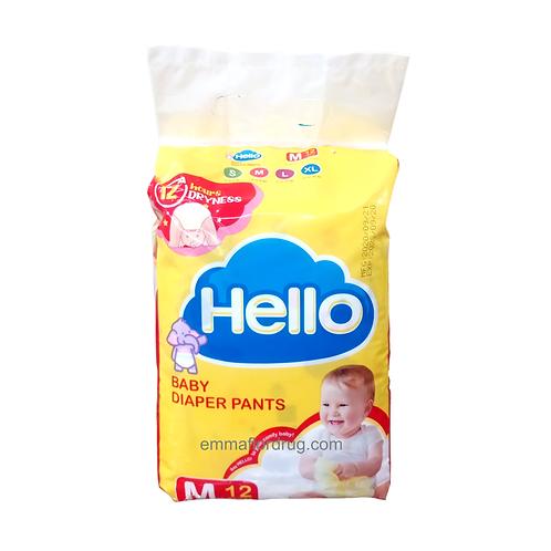 Hello Baby Diaper Pants Medium 12's