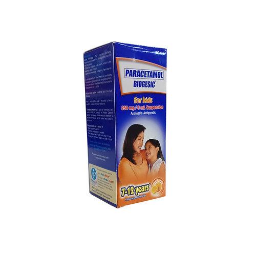Biogesic 250mg/5ml 60ml Orange Flavor