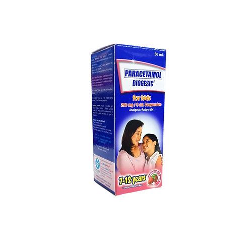 Biogesic 250mg/5ml 60ml Strawberry Flavor