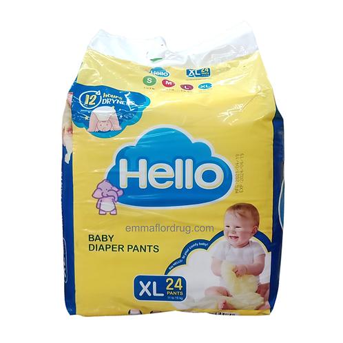 Hello Baby Diaper Pants XL 24's