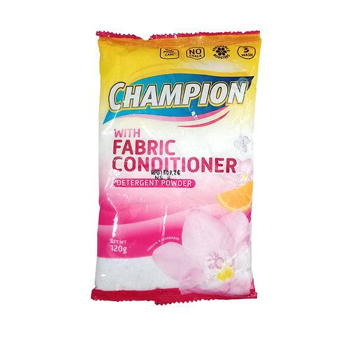 Champion Detergent Powder with Fabric Conditioner 120g x 8s