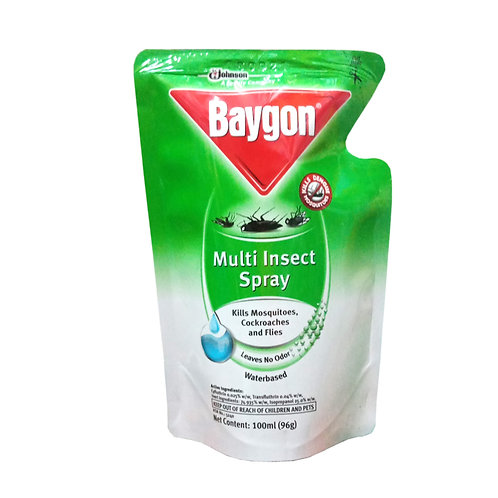 Baygon Multi Insect Spray Water-based Refill 100ml