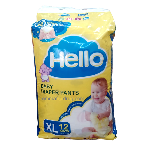 Hello Baby Diaper Pants XL 12's