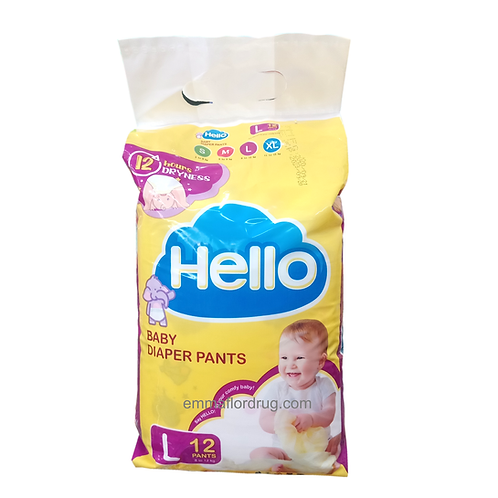 Hello Baby Diaper Pants Large 12's