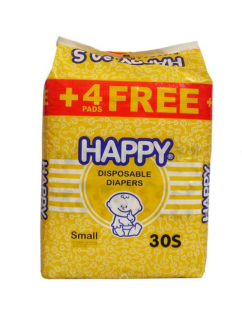 Happy Disposable Diaper Small 30s