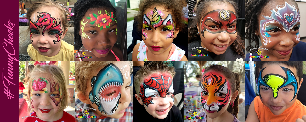 Face painting for theme under the sun!