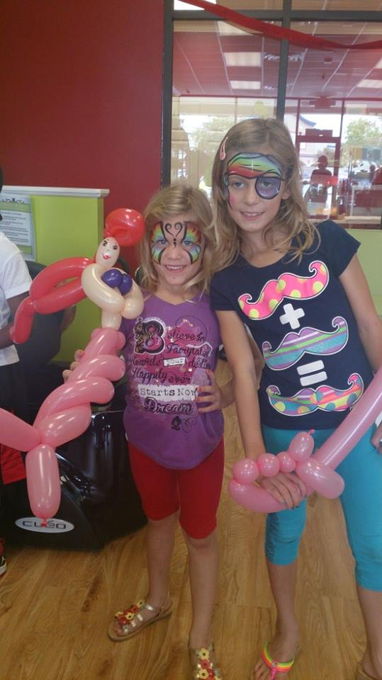 Girly balloon art