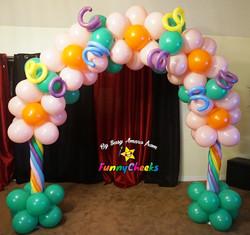 Easter theme balloon arch