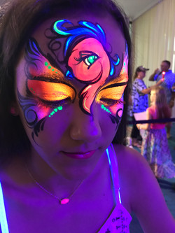 UV Glow Face Painting for Corporate