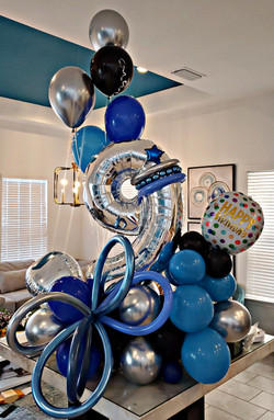 9 yr. old boy balloon bouquet surprise