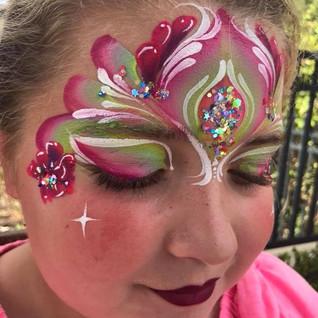 Flower Princess Face Painting