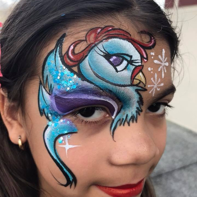 Bird Face Painting