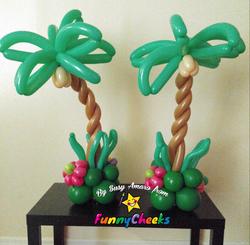 Palm tree center pieces Orlando