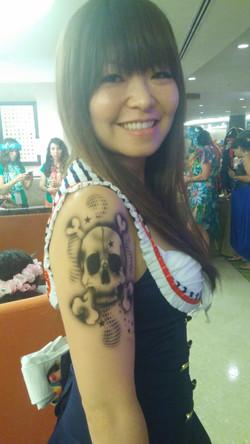 Skull Airbrush Tattoo Design