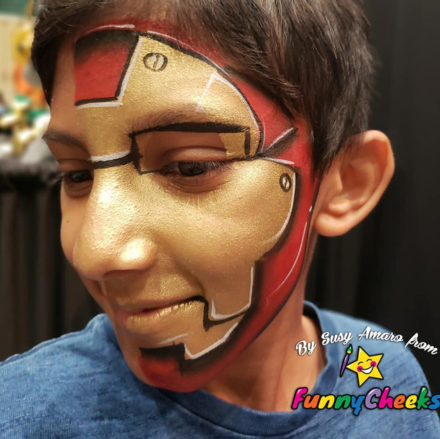 ironman face painting