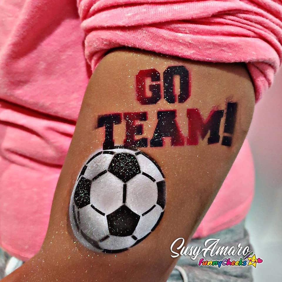 soccerball airbrush tattoo