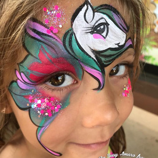 Waterproof Face Painting Pony