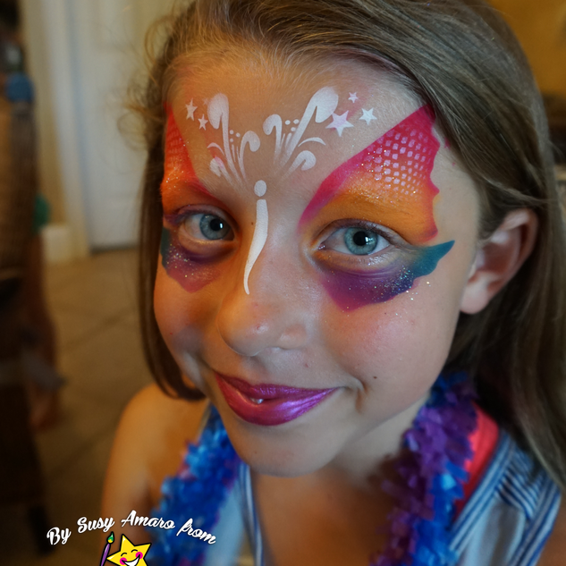 Waterproof butterfly face paint