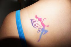 Fairy airbrush tattoo