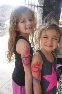 Cupcake Girly Airbrush Tattoo