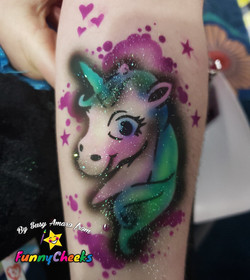 Unicorn Airbrush Tattoo Orlando