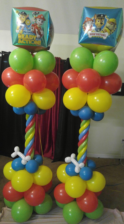 Paw Patrol Balloon Columns