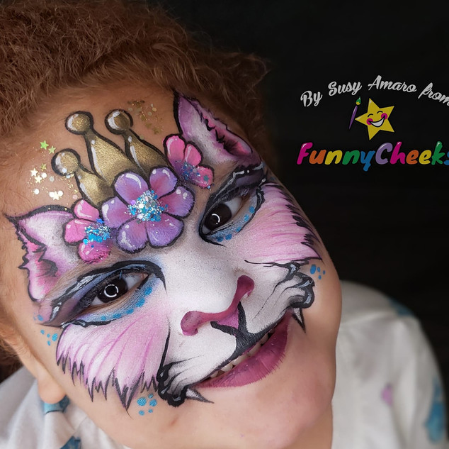 Princess Kitty Face Painting Orlando