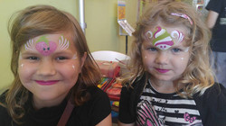 Face painting at Menchie's