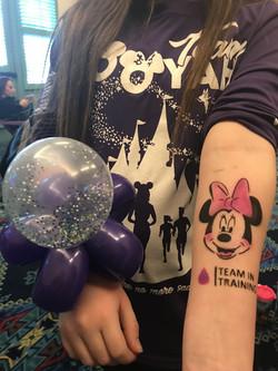 Shaker balloon bracelet and Airbrush