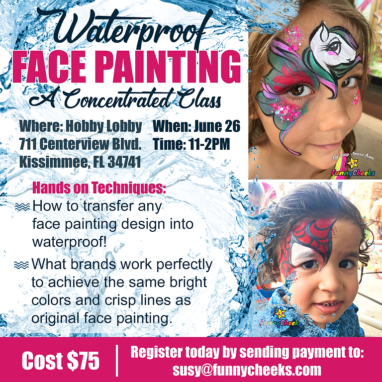Waterproof Face Painting Techniques