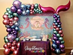 Mermaid balloon arch
