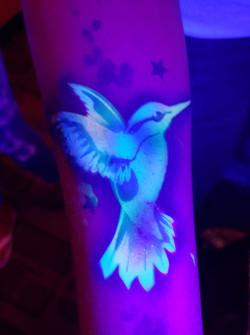 UV Glow Airbrush Tattoos