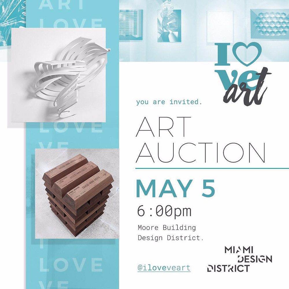 Invitación Art Auction I Love Venezuela