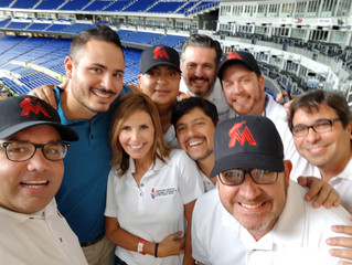 La Junta Directiva de Venezuelan Chamber visita el Marlins Park en Apoyo del Evento VENEZUELAN HERIT