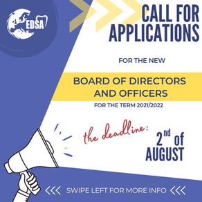 Call for Applications - EDSA Board of Directors and Officers