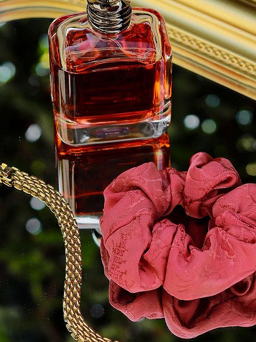 Chouchou rose framboise