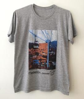 Camiseta Metrocable Día - Gris Jaspe