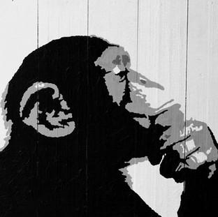 Chimpancé Banksy