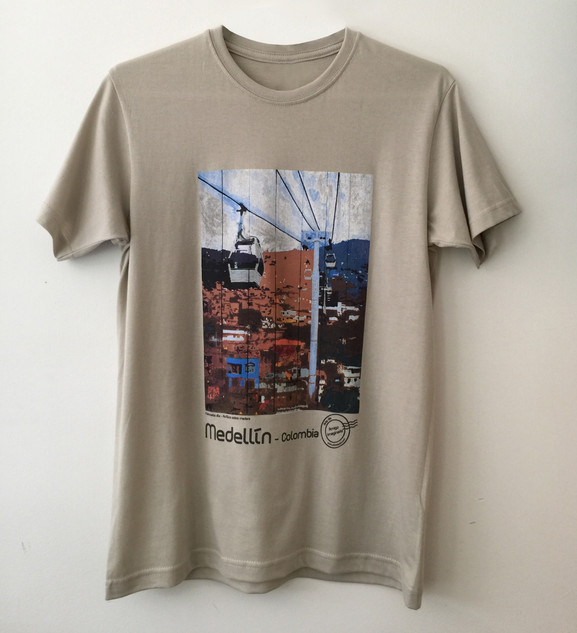 Camiseta Metrocable Día - Kaki