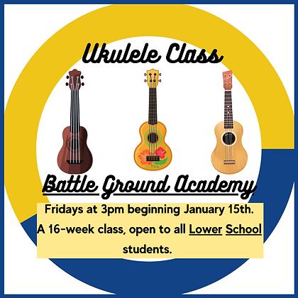 Battle Ground Academy Lower School Ukulele Class Spring 2021